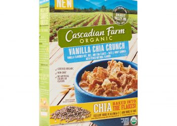 Cascadian Farm Vanilla Chia Crunch Cereal for $1.50