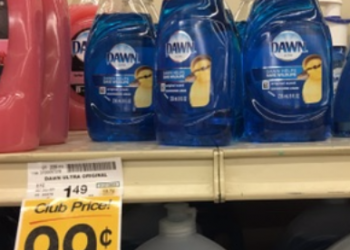 Dawn Dish Soap Coupon, Only $0.49