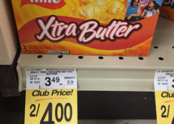 Jolly Time Popcorn for $1.00 – Perfect for Movie Night
