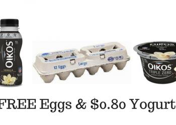 FREE Lucerne Eggs – Buy 10 Dannon Greek Yogurt or Yogurt Drinks for $0.80 Each