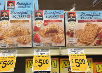 Quaker Breakfast Squares For as Low as $1.50