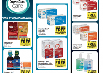 Save 50% on Signature Care Pain Relief, Cold & Flu Care and Allergy Care Products at Safeway