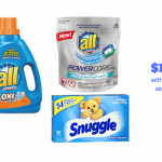 All Detergent and Snuggle Fabric Softener Just $1.99 With Coupons at Safeway, Save 72%