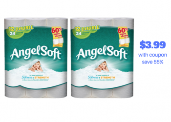 Angel Soft Bath Tissue 12 Double Rolls Just $3.99 With Coupon