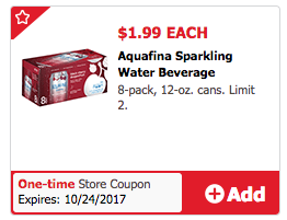 Get Aquafina Water 1L Bottles for just $/each! To score this deal, buy two Aquafina 1L Water Bottles for $/each! Then use one $ off Printable Coupon for a final price of $/each.
