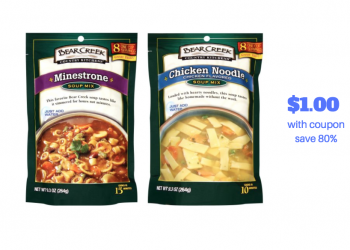 Bear Creek Soups Coupon and Sale – Pay Just $1.00 at Safeway, Save 80%