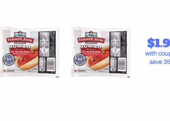 Farmer John Hot Dogs Deal – Pay as Low as $1.95