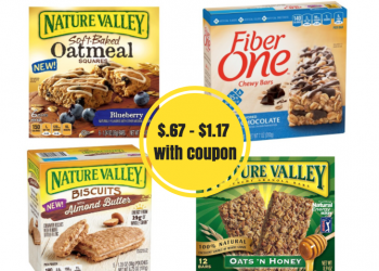 Nature Valley and Fiber One Bars Coupon and Sale – Pay Just $.67 – $1.17 a Box at Safeway