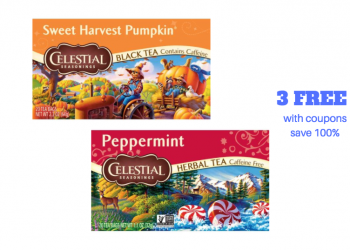 New Celestial Seasonings Tea Coupons and Sale – Get 3 For FREE