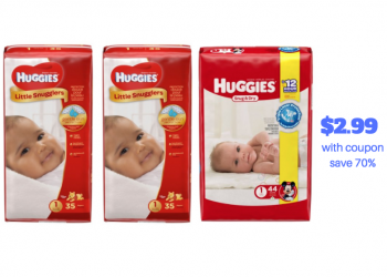 Huggies Diapers Catalina Coupon Stack Get 5 Packs for $2.99 Each – Just 8¢ per Diaper