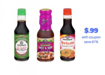 New Kikkoman Coupons – Pay as low as $.99 for Soy Sauce, Stir-Fry Sauces & Teriyaki Sauce