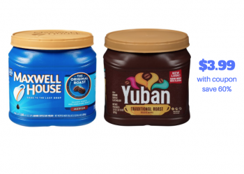 New Maxwell House Coffee Coupon – Pay Just $3.99 (Reg. $9.99)