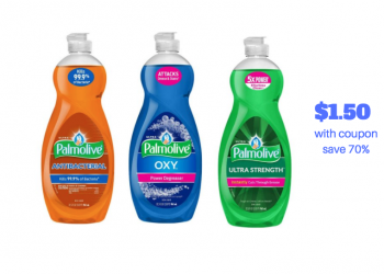 Palmolive Dish Soap as low as $1.50 or Just $.04/oz With Sale and Coupon, Save 70%