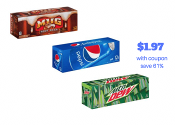 New Pepsi Coupon – Pay Just $1.97 for Each 12 Pack