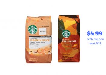 New Starbucks Coupon – Pay just $4.99 a Bag