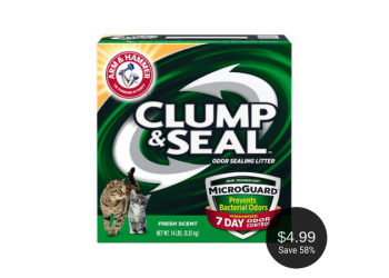 Arm & Hammer Litter Coupon, Pay $4.99 for Clump & Seal or Clumping