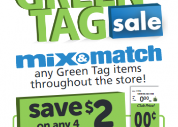 Safeway Green Tag Sale – Buy 4, Save $2.00