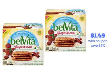 Try New Nabisco belVita Gingerbread Breakfast Biscuits  – Just $1.49 With Coupon