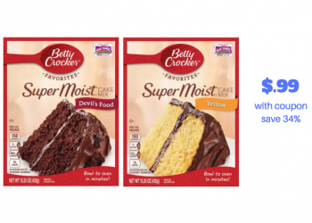 HOT! New Betty Crocker Cake Mix and Frosting Coupon – Pay just $.99 at Safeway