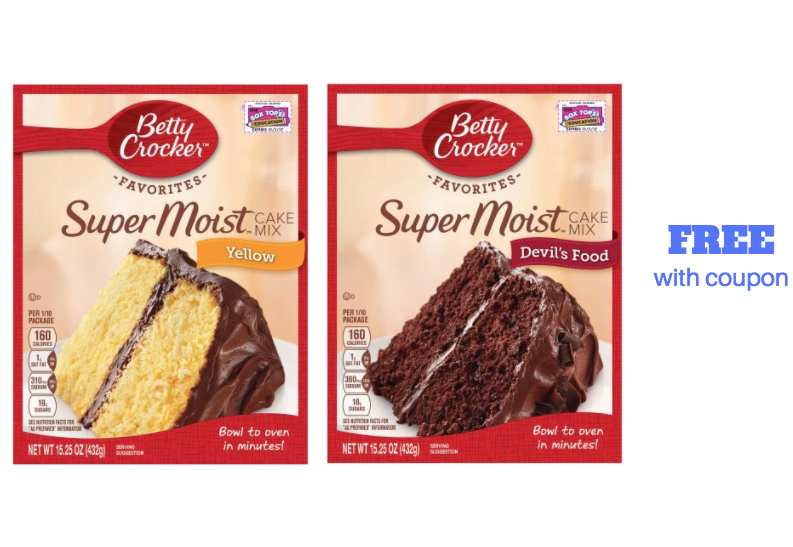 Betty Crocker Cake Mix Coupons November