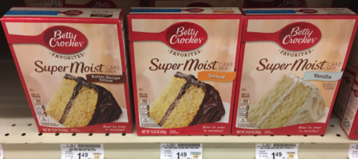 betty crocker cake mix price