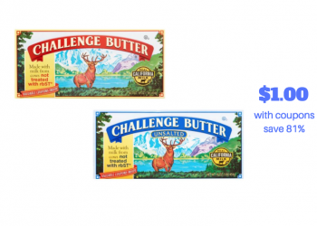 Challenge Butter Just $1.00 With New Coupon Stack