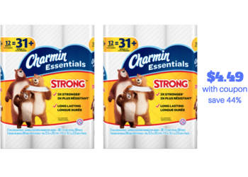 Charmin Essentials 12 Giant Rolls Just $4.49 With Sale and Coupon (Reg. $7.99)