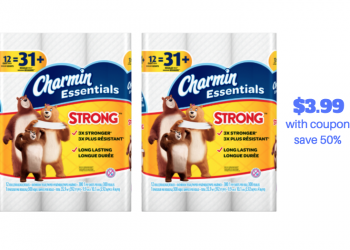 Charmin Essentials 12 Pack Just $3.99 With New Charmin Coupon (Save 50%)