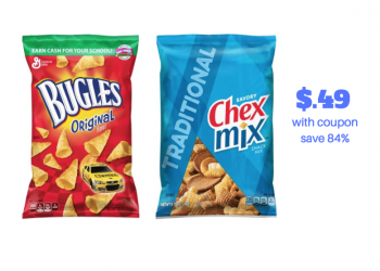 NEW Chex Mix Coupon and Sale – Pay just $.49 Each, Save 84%