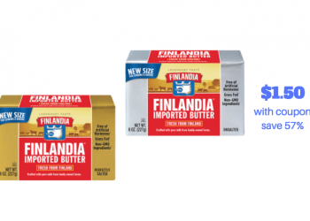 Finlandia Butter New at Safeway – Pay just $1.50 With Coupon
