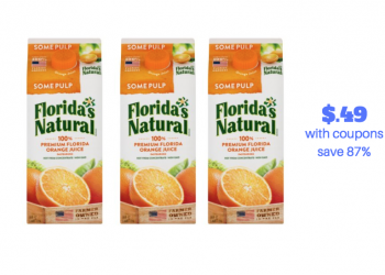 HOT!  Get Florida's Natural Orange Juice for $.49 With Coupon Stack (Save 87%)