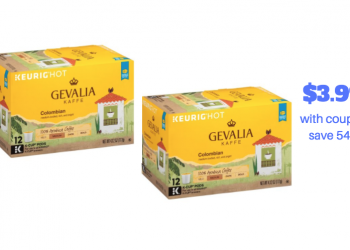 Gevalia K-Cups Coupon Stack – Pay just $3.99 for Coffee K-Cups (Reg. $8.59)