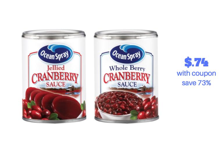 ocean spray cranberry sauce coupon