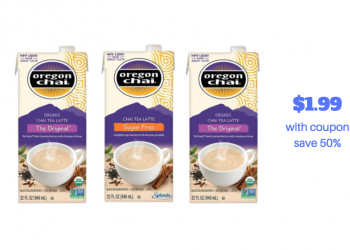 New Oregon Chai Tea Latte Coupon and Sale – Pay just $1.99 (Reg. $3.99)