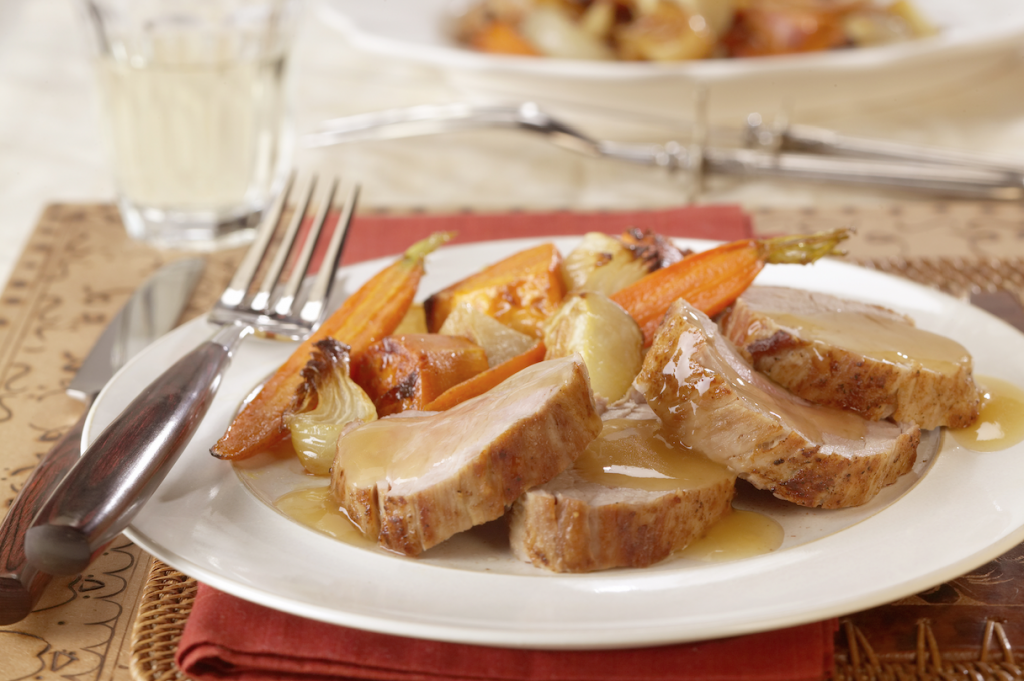 roasted pork tenderloin with apple ginger sauce