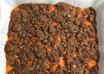 Ultimate Sweet Potato Casserole With Pecan Crumble Topping