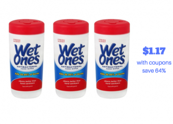 Wet Ones Wipes Canisters Just $1.17 With Coupons (Reg. $3.29)