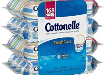 Cottonelle Flushable Wipes 4 Pack for $4.99 (That's $1.25 Per 42 Count)