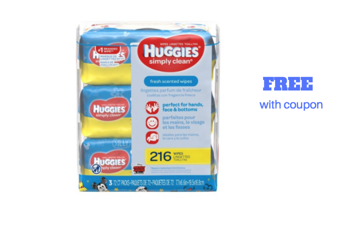 free huggies wipes 240 ct.