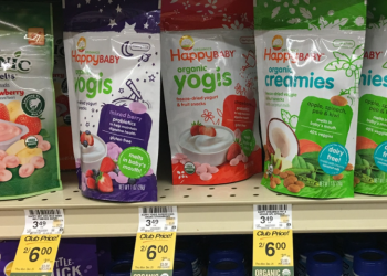 HappyBABY Coupon, Pay $2.00 for Organic Yogis or Creamies