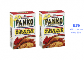 Kikkoman Panko Bread Crumbs Just $.79 With Coupon