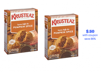 Krusteaz Pumpkin Spice Muffin Mix Just $.50 With Coupon