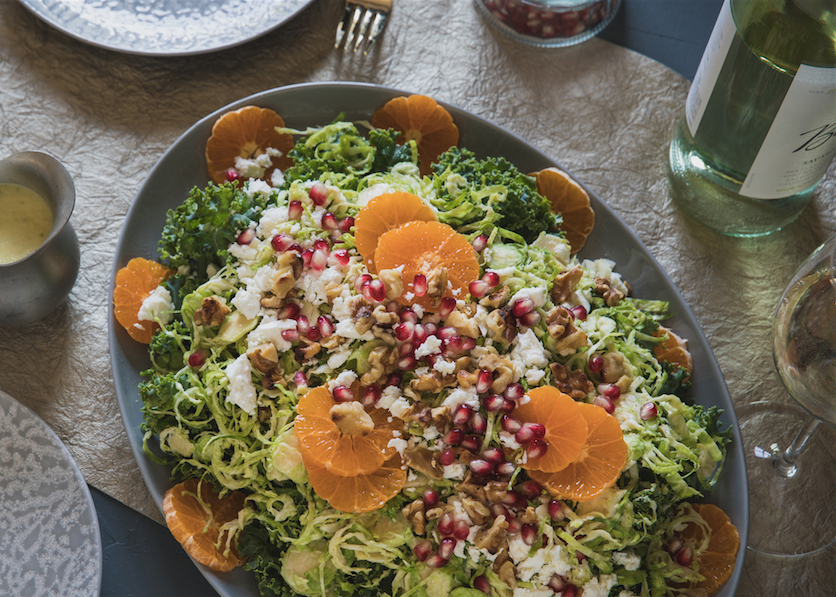 Winter Salad With Apple Pomegranate Dressing