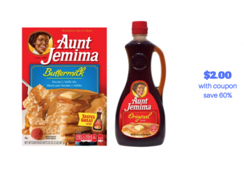 Aunt Jemima Pancake Mix and Syrup Just $2.00 With New Sale and Coupon (Reg. $4.99)