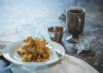 Crockpot French Toast With Eggnog and Maple Creme Syrup