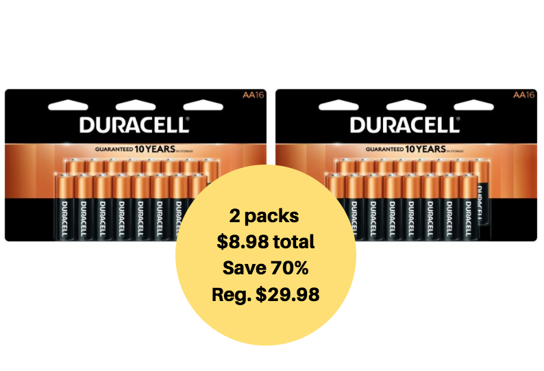 duracell batteries 16 ct