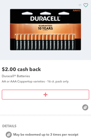 Duracell d battery coupons