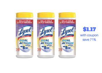 Lysol Wipes 35 ct. Just $1.17 Each With Coupon, Save 71%