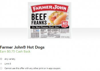 Farmer John Jumbo Wieners for $0.75