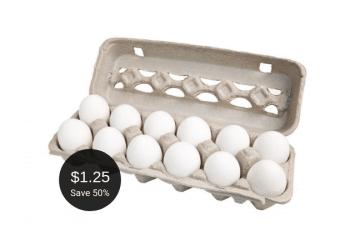 Lucerne Large Eggs, Pay $1.25 per Dozen at Safeway